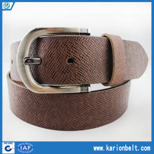 Most Popular Leather Belts as Present Split Leather Embossed Belt for Men (40-13126)