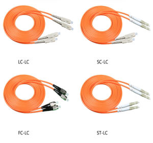 Multi-Mode Fiber Patch Cord Duplex LC-LC Connector 3.0mm PVC Jacket pictures & photos