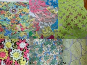 100%Poly Woven Embroidery Fabric (EMB#C) pictures & photos