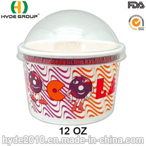 Disposable Ice Cream Paper Bowl with Lid (12 oz-2) pictures & photos