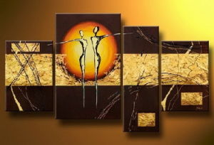 Framed Modern Abstract Peopole Oil Painting