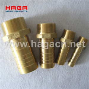 Brass Hydraulic Thread Pipe Fitting Hose Nipple pictures & photos