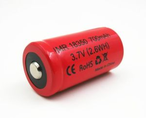 E-Cig Li-ion Battery Imr18350p 3.7V 700mAh High Rate 16c