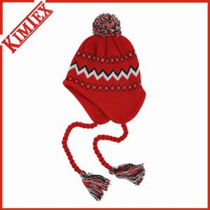 Fashion Acrylic Knitted Jacquard Earflap Bomber Hat pictures & photos