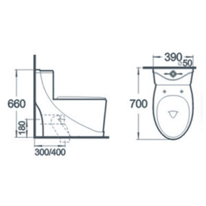 Bathroom Wc Washdown One Piece Ceramic Toilet pictures & photos
