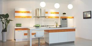 Acrylic Glass Upper Kitchen Cabinets (zv-012) pictures & photos