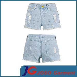Women Denim Cuffed Short Shorts Jeans (JC6042) pictures & photos