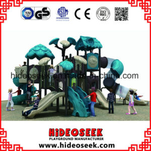 Kids Play Set Outdoor Playground Equipment Plastic Slides pictures & photos