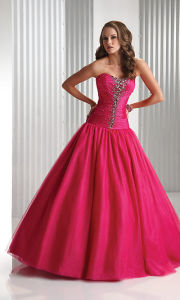 Classic Style Ball Gown Strapless Beaded Prom Dresses (PD3008) pictures & photos