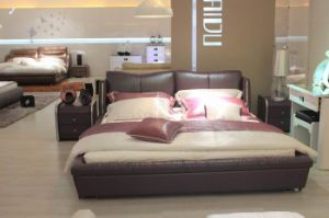 Leather Bed/Modern Bed/King Bed (P972)