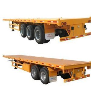Famous Transportation 40 FT Container Flatbed Semitrailer for Sale pictures & photos