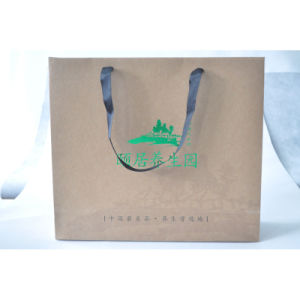 Printed Kraft Paper Hand Bag for Garment/Shoes Packing pictures & photos