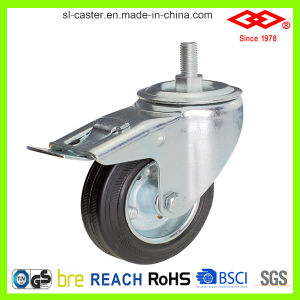 75mm Industrial Black Rubber Caster Wheel (P101-11D075X25S) pictures & photos