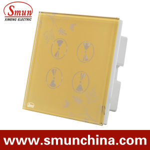 4 Gang Wall Touch Switch, Smart Wall Socket, for Home and Hotel Remote Control Switches pictures & photos