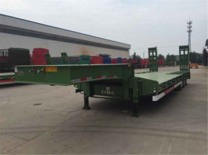 3 Axles Heavy Transport Low Bed Semi-Trailer pictures & photos
