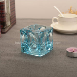 Natural Color Crystal Glass Candle Holder