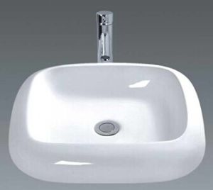 Luxury White Bathroom Ceramic Washing Basin (045) pictures & photos