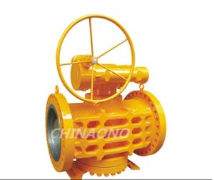 Worm Gear Metal Sealed Pressure Balance Lubricated Inverted Plug Valve pictures & photos