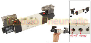 1pneumatics 3/5 Way 4V330-10 Normal Closed Pneumatic Solenoid Valve 3/8′′ pictures & photos