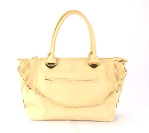 Side Zipper and Front Chain PU Fashion Handbag pictures & photos