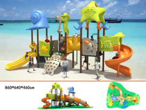 Marine series outdoor playground tube slide bh02301