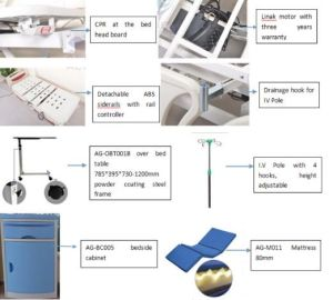 ICU Room with Battery Ce ISO 5-Functions Electric Bed (AG-BY003C) pictures & photos