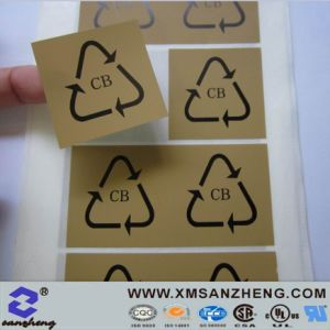 Glossy Clear High Temperature Resistant Cmyk Vinyl Self Adhesive Stickers pictures & photos