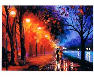 Oil Painting of Night View pictures & photos