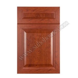 PVC Film Vacuum Blister MDF Kitchen Cabinet Door Made in China Zz70A (Cherry wood - B)