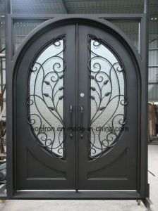 Security Ornamental Wrought Iron Entry Front Doors for House pictures & photos