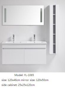Sanitary Ware Double Sink Bathroom Cabinet with Mirror