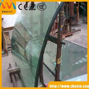 Shower Room Bent/Curved Tempered Toughened Glass Door for Sale