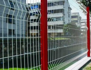 PVC Powder Coated Welded Wire Mesh Fence with Peach Shaped Post
