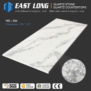 Hot Sale Marble Veins Artificial Calacatta Quartz Slab for Engineered Quartz Stone pictures & photos