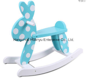 Factory Supply Baby Rockiing Horse-Blue Rabbit Rocker with White DOT pictures & photos