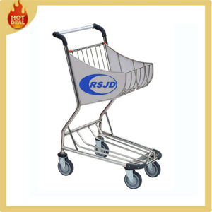 4 Wheels Stainless Steel Airport Shopping Cart Trolley (BW3) pictures & photos
