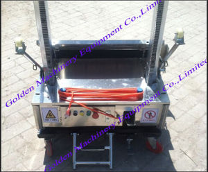 Chinese Auto Cement Block Wall Plaster Rendering Machine pictures & photos