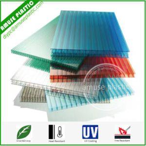 Colored Bayer Plastic 3-Layers Polycarbonate Hollow Sheet Multi-Wall PC Sheet Panels pictures & photos