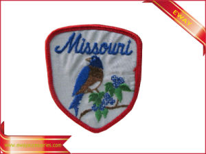 Custom Promotional Embroidered Patch Garment Fabric Patch pictures & photos
