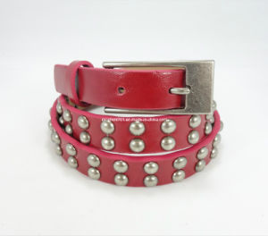 Fashion PU Leather Lady Waistband with Studs (EU1143-20) pictures & photos