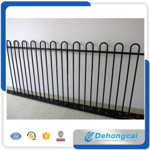 Top Curve Galvanized Wrought Iron Fencing with Solid Bar /Black Steel Fences pictures & photos