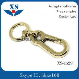 Shiny Nickel Custom Metal Snap Hook for Handbag (customized logo)