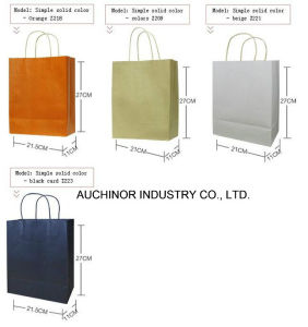 Shopping Bag Manufacture White Kraft Paper Carrier Bags pictures & photos