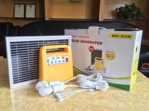 Solar Power System Home with FM Radio and USB pictures & photos