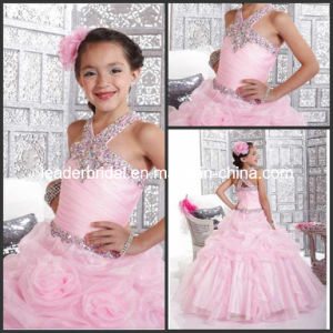 Pink Junior Prom Party Dress Beading Flower Girl Dress F131205 pictures & photos
