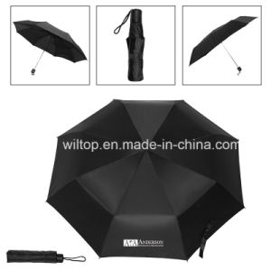 Promotional Black Folding Umbrella (PM218) pictures & photos