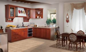 Best Selling Simple Kitchen Furniture Luxury Solid Wood Kitchen Cabinet (zq-018) pictures & photos