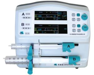 Dual Syringe Pump Jaz-1800d Kvo Bolus Function CE/Syringe Infusion Pump pictures & photos