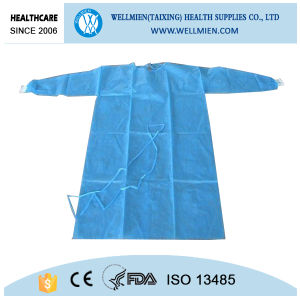 SMS Disposable Operating Surgical Gown Knitting Cuff pictures & photos