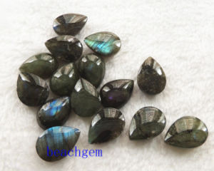 Jewelry Parts-Natural Labradorite Pear Checkbord Beads